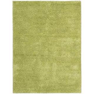 Nourison Malibu Shag Lime Rug (5' x 7')