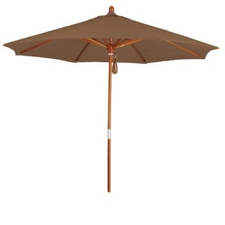 Somette 9-Foot Market Umbrella with Marenti Wood Frame and Olefin Fabric