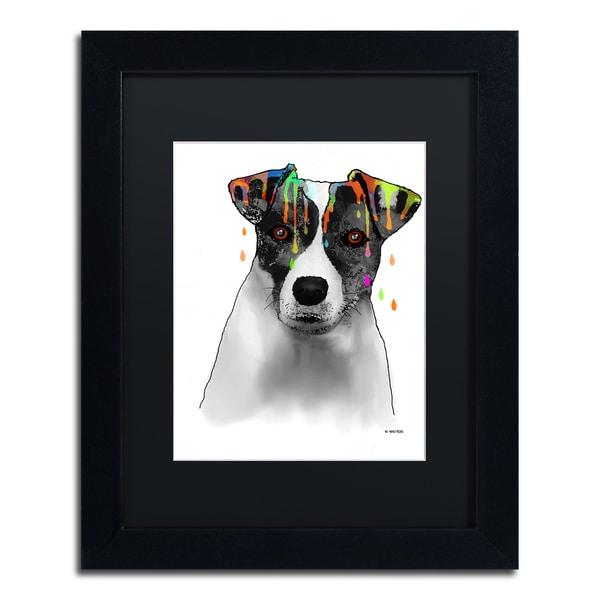 Marlene Watson 'Jack Russel Terrier' Black Matte, Black Framed Wall Art 16057951