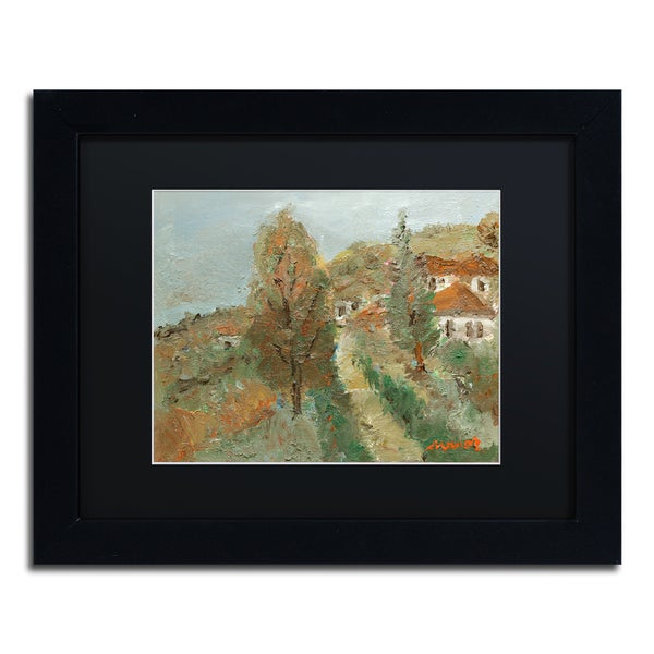 Manor Shadian 'Last Days of Fall' Black Matte, Black Framed Wall Art