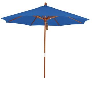 Somette 9-Foot Market Umbrella with Marenti Wood Frame and Sunbrella Fabric