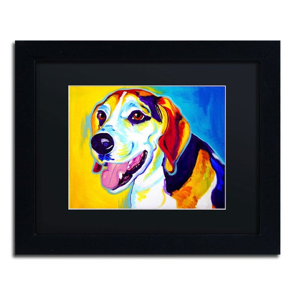 DawgArt 'Lou' Black Matte, Black Framed Wall Art