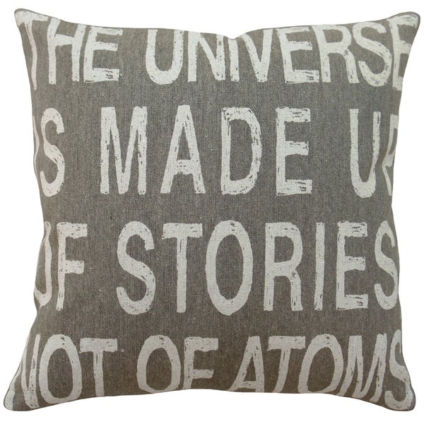 The Universe' Hand-printed Linen 18-inch Throw Pillow