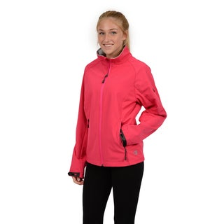 Champion Women's Raglan Sleeve Mock Neck Soft Shell Jacket