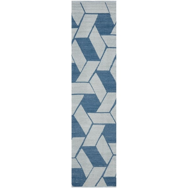 Safavieh Hand-Knotted Thom Filicia Indigo Wool Rug (2' x 12')