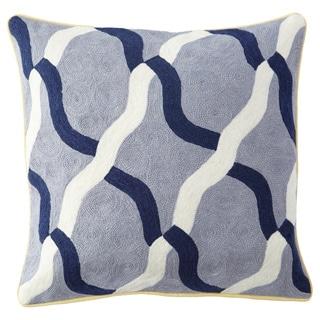 Handmade Chainstitch Geometric Designer Cushion Cover (India)