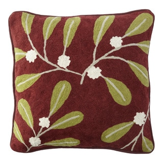 Handmade Chainstitch Nature Designer Cushion Cover (India)