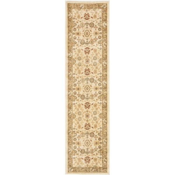 Safavieh Heirloom Cream/ Cream Rug (2' x 10')