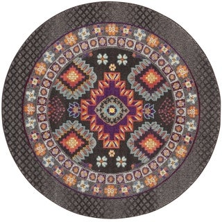 Safavieh Monaco Brown/ Multi Rug (6'7 Round)