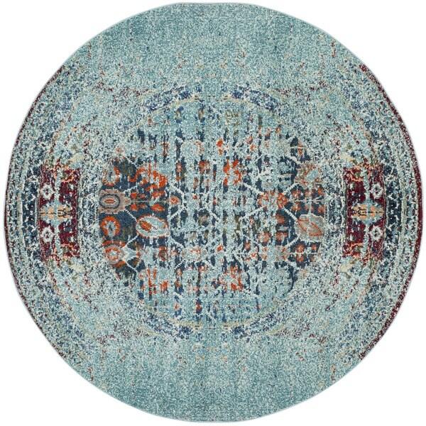 Safavieh Monaco Blue Multi Rug 6 7 Round 17555059