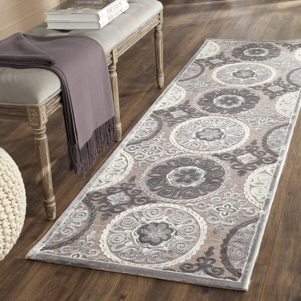 Safavieh Paradise Light Grey/ Dark Grey Viscose Rug (2'3 x 7')