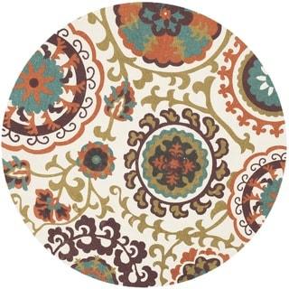Safavieh Handmade Cedar Brook Orange Cotton Rug (5' Round)