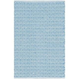 Safavieh Hand-Woven Montauk Ivory/ Blue Cotton Rug (2'3 x 3'9)