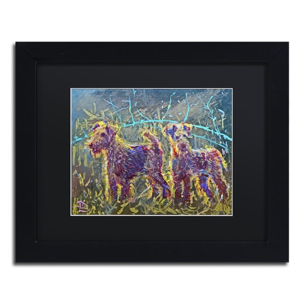 Lowell S.V. Devin '21st Century Fox Terriers' Black Matte, Black Framed Wall Art