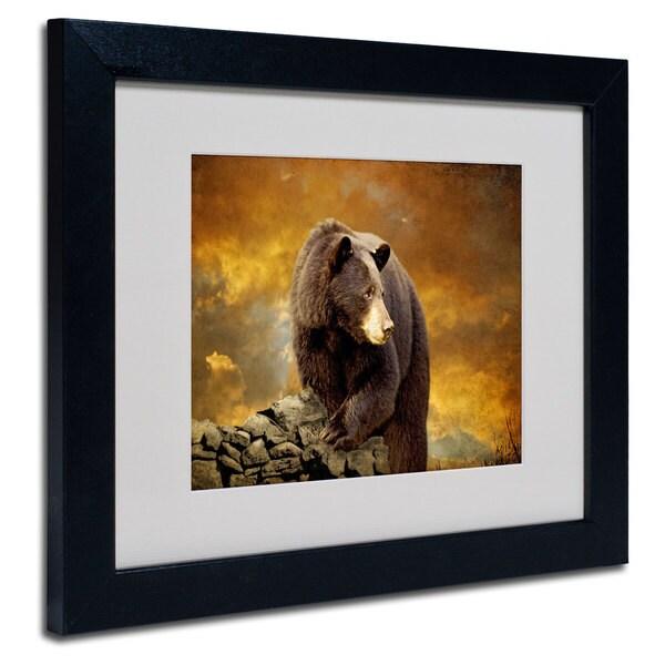 Lois Bryan 'Bear Went Over the Mountain' White Matte, Black Framed Wall Art