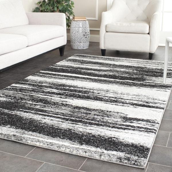 Safavieh Retro Dark Grey/ Light Grey Rug (11' x 15')