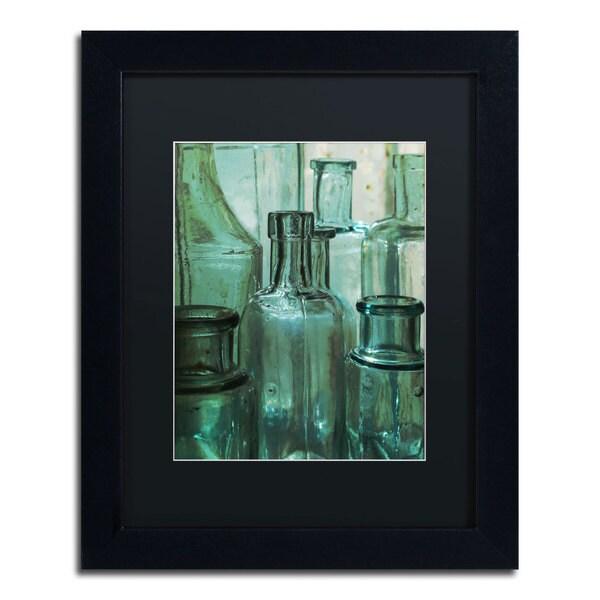 Patty Tuggle 'Antique Bottles' Black Matte, Black Framed Wall Art