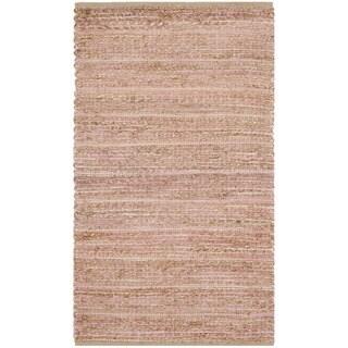 Safavieh Hand-Woven Cape Cod Light Pink Jute Rug (2' x 3')
