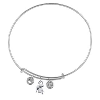 Michigan State Adjustable Bracelet with Charms