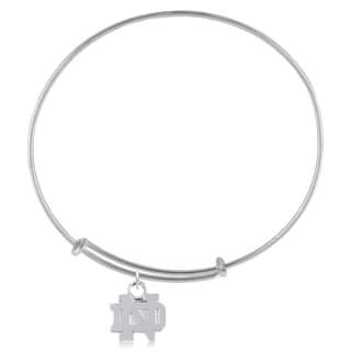 Notre Dame Sterling Silver Charm Adjustable Bracelet