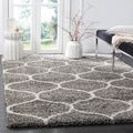 Safavieh Hudson Ogee Shag Grey Background and Ivory Rug (10' x 14')