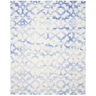 Safavieh Handmade Dip Dye Ivory/ Blue Wool Rug (10' x 14')