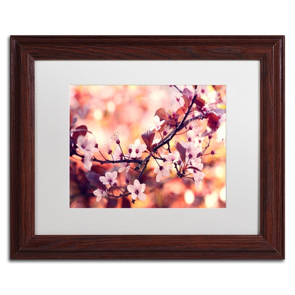 Beata Czyzowska Young 'Colours of Springtime' White Matte, Wood Framed Wall Art