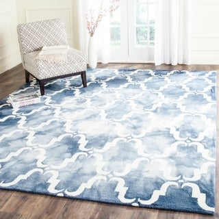 Safavieh Handmade Dip Dye Navy/ Ivory Wool Rug (9' x 12')