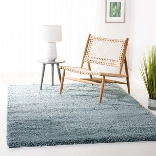 Safavieh California Cozy Solid Light Blue Shag Rug (8'6 x 12')