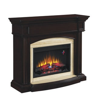 ClassicFlame 26- inch Wall Mantel Roasted Walnut Fireplace