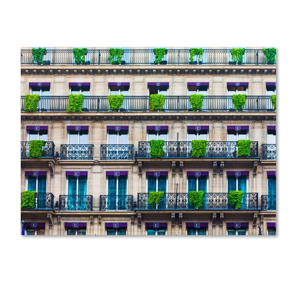 Preston 'Parisian Apartments' Canvas Art