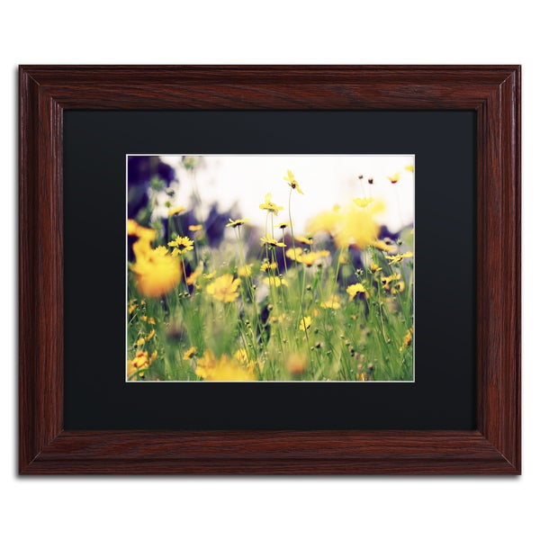 Beata Czyzowska Young 'Days in the Sun' Black Matte, Wood Framed Wall Art