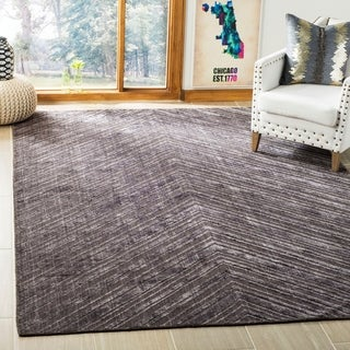 Safavieh Hand-knotted Mirage Charcoal Wool/ Viscose Rug (9' x 12')