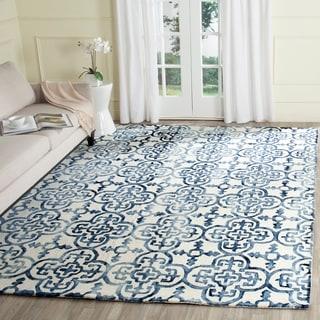 Safavieh Handmade Dip Dye Ivory/ Navy Wool Rug (9' x 12')