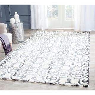 Safavieh Handmade Dip Dye Ivory/ Charcoal Wool Rug (9' x 12')