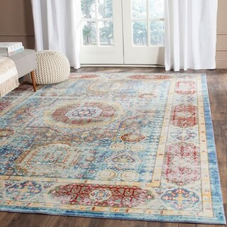 Safavieh Valenica Blue/ Multi Polyester Rug (9' x 12')