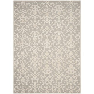 Safavieh Handmade Glamour Grey/ Ivory Viscose Rug (8' x 11')