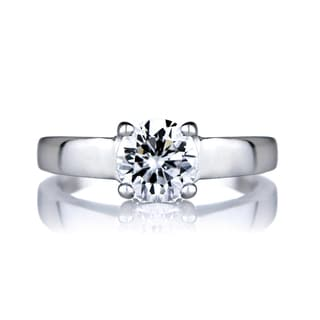 Sterling Silver Promise Ring - Round CZ
