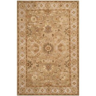 Safavieh Handmade Anatolia Tan/ Ivory Wool Rug (6' x 9')