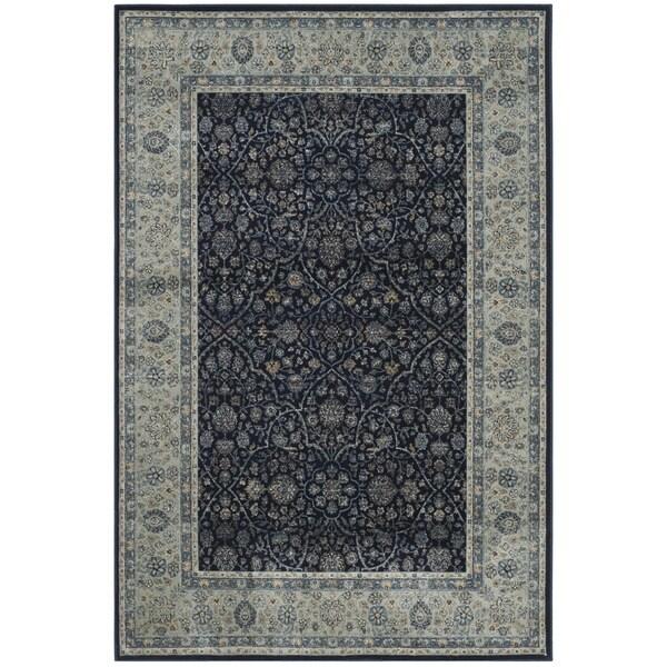 Safavieh Persian Garden Vintage Navy/ Light Blue Viscose Rug (8' x 11')
