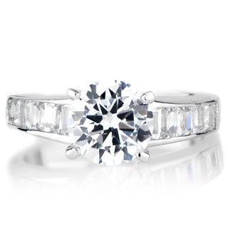 Sterling Silver Round Cut CZ Promise Ring