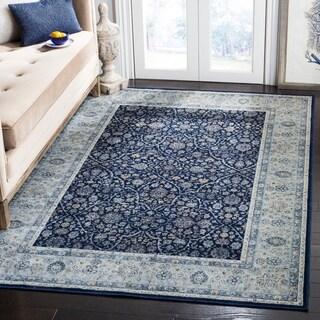 Safavieh Persian Garden Vintage Navy/ Light Blue Viscose Rug (6'7 x 9'2)