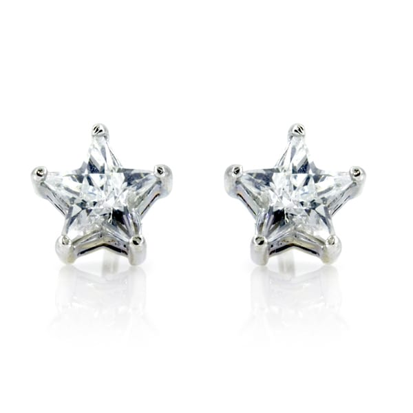 CZ Star Stud Earrings