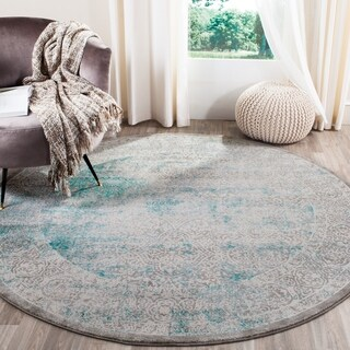 Safavieh Passion Turquoise/ Ivory Rug (8' x 11')
