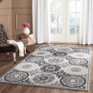 Safavieh Paradise Light Grey/ Dark Grey Viscose Rug (8' x 10')