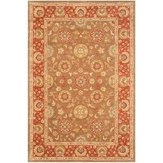 Safavieh Handmade Heritage Beige/ Rust Wool Rug (6' x 9')