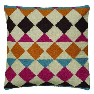 Rizzy Home Pink And Orange Square Pillow Cover