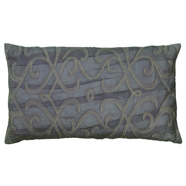 Rizzy Home Plum Rectangle Pillow Cover