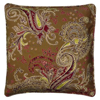 Rizzy Home Pink And Brown Square Pillow Cover
