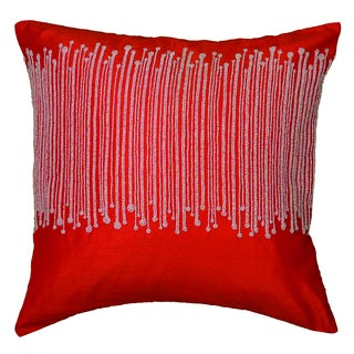Rizzy Home Red Square Pillow Cover